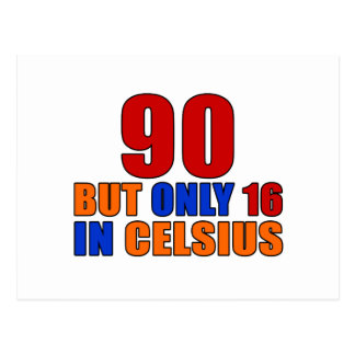 90 But Only 16 In Celsius Birthday Postcard