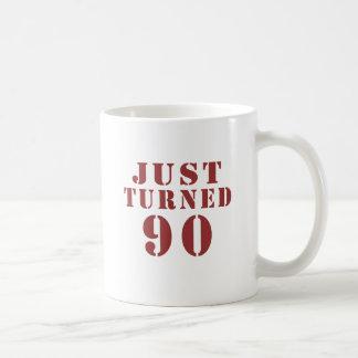 90 Just Turned Birthday Coffee Mug