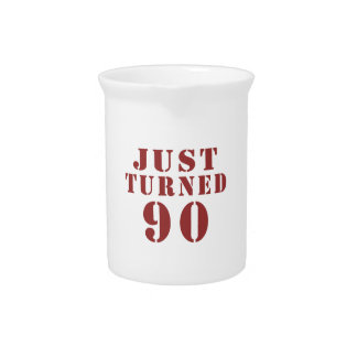 90 Just Turned Birthday Pitchers