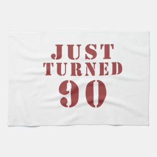 90 Just Turned Birthday Towels