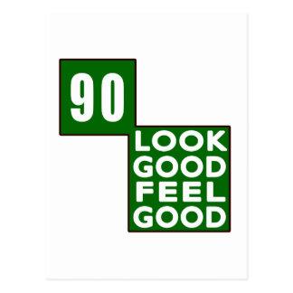 90 Look Good Feel Good Postcard