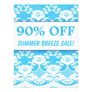 90 OFF Sale Flyer Green White Lace Bold