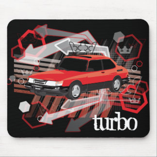 90 SPG in red, turbo mousepad
