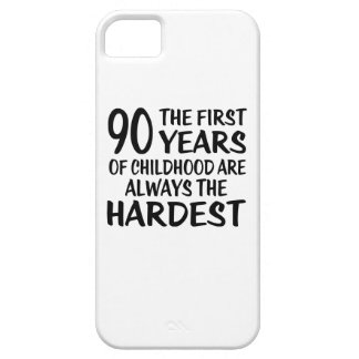 90 The First  Years Birthday Designs iPhone 5 Case