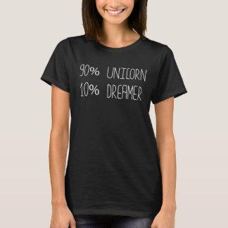 90% Unicorn 10% Dreamer Mythology Bookworm T-Shirt