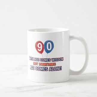 90 year old wisdom birthday designs coffee mug
