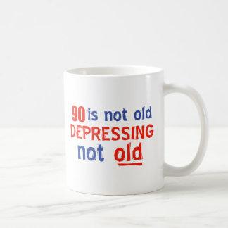 90 years is not old coffee mug
