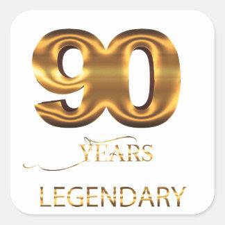 90 years legendary sticker