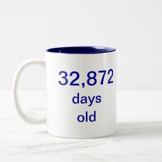 90 years old Two-Tone coffee mug