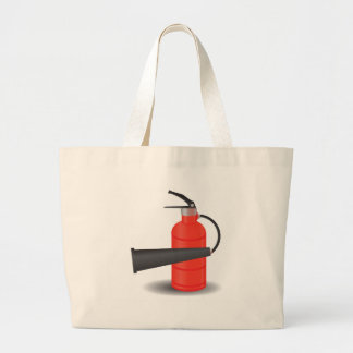 90Fire Extinguisher_rasterized Large Tote Bag