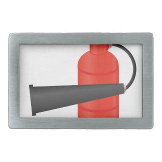 90Fire Extinguisher_rasterized Rectangular Belt Buckle
