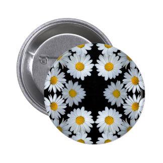 90s black daisy 2 inch round button
