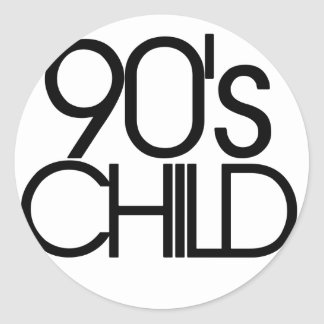 90s child classic round sticker