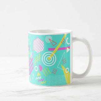 90s geometric pattern coffee mug