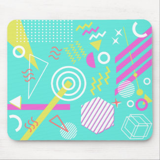 90s geometric pattern mouse pad