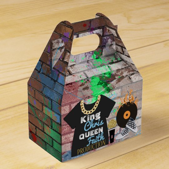 90's Hip Hop Baby Shower Gable Favour Box