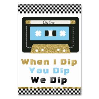 90'S Hip Hop BOY Baby Shower Dip Sign Card