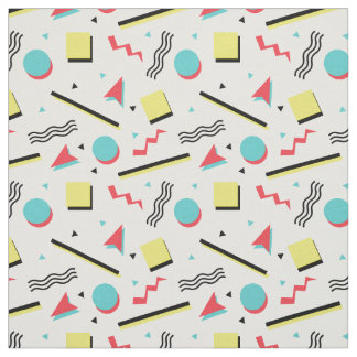 90s Inspired Retro Seamless Pattern Fabric