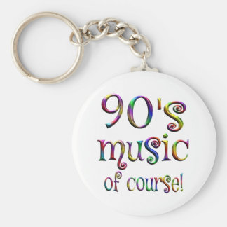 90s Music of Course Basic Round Button Keychain