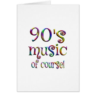 90s Music of Course Card