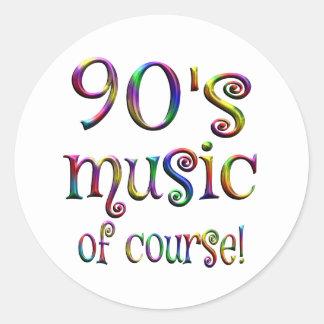90s Music of Course Round Sticker