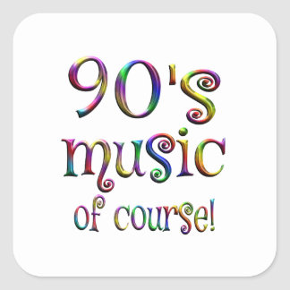 90s Music of Course Square Sticker