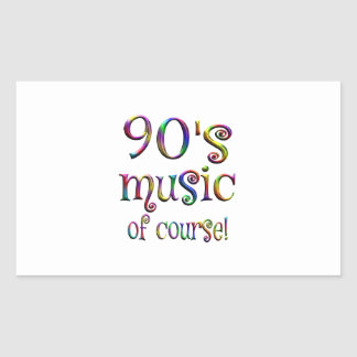 90s Music of Course Sticker