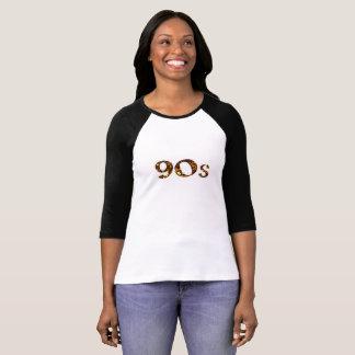 90s Nostalgia Gold Glitter T-Shirt