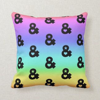 90s ombre rainbow colorful hipster pillow