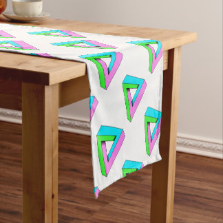 90s pop art design short table runner
