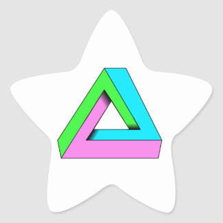 90s pop art design star sticker