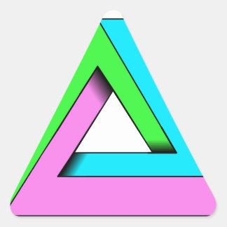 90s pop art design triangle sticker