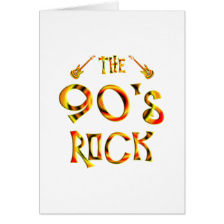 90's Rock Greeting Card