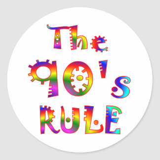 90s Rule Classic Round Sticker