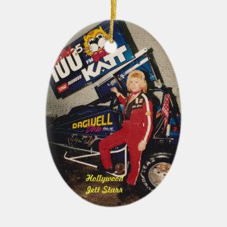 "90'S Sprint Dirt Champion Hollywood ""Jett Starr"" Ceramic Ornament"