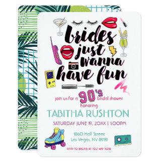 90s Throwback Bridal Shower Card