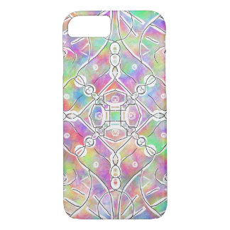 90s tribal pattern multi color colorful bright Case-Mate iPhone case