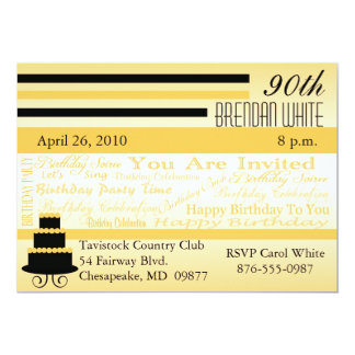 90th - 99th Birthday Invitations-Enter Your Age Card