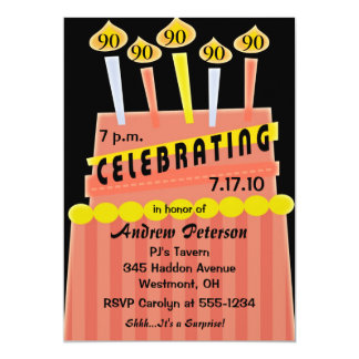 90th - 99th Birthday Party Personalized Invitation