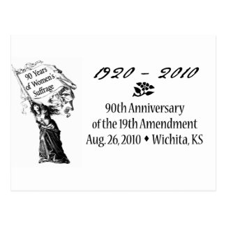 90th Amendment Celebration   postcard