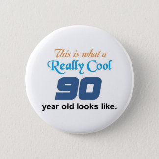90th Birthday 2 Inch Round Button