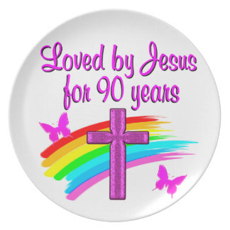 90TH BIRTHDAY BLESSINGS DINNER PLATE