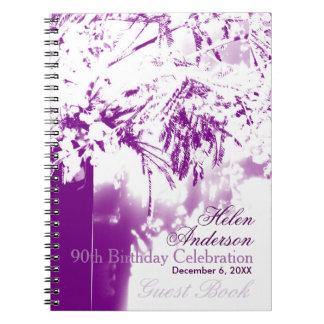 90th Birthday Celebration Flower Bouquet GuestBook Notebooks