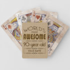 90th Birthday Celebration World Best Fabulous Bicycle Playing Cards