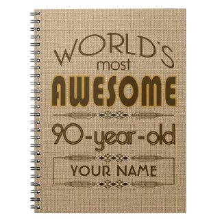90th Birthday Celebration World Best Fabulous Notebooks