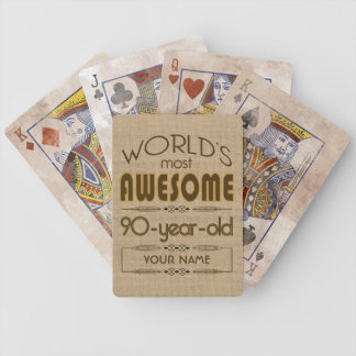 90th Birthday Celebration World Best Fabulous Poker Deck