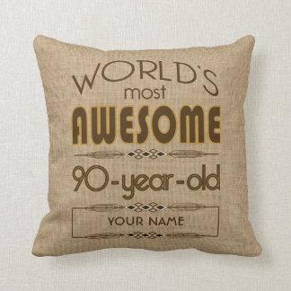 90th Birthday Celebration World Best Fabulous Throw Pillow