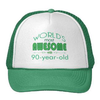 90th Birthday Celebration World's Best in Green Trucker Hat