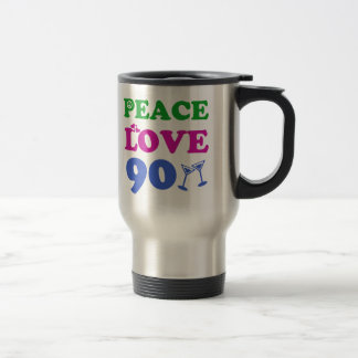90th birthday designs travel mug