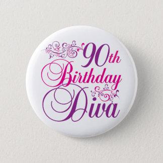 90th Birthday Diva 2 Inch Round Button